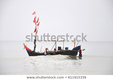fisherboats at the beach in Myanmar  Stock photo © meinzahn