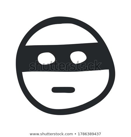 Rajz karakter nindzsa izolált fehér illusztráció Stock fotó © smeagorl