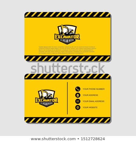 under construction on business card stock photo © stevanovicigor