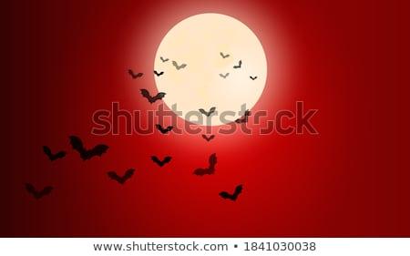 desenho · animado · vermelho · planeta · paisagem · céu · laranja - foto stock © boroda
