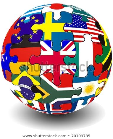 Ausztrália · Egyesült · Királyság · zászlók · puzzle · vektor · kép - stock fotó © istanbul2009