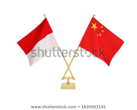 China Indonésia miniatura bandeiras isolado branco Foto stock © tashatuvango
