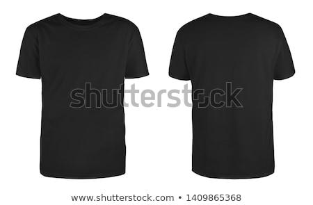 two black t shirts isolated on white stock photo © ozaiachin