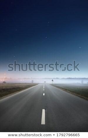 Clear sky above the empty rural road Stock photo © konradbak