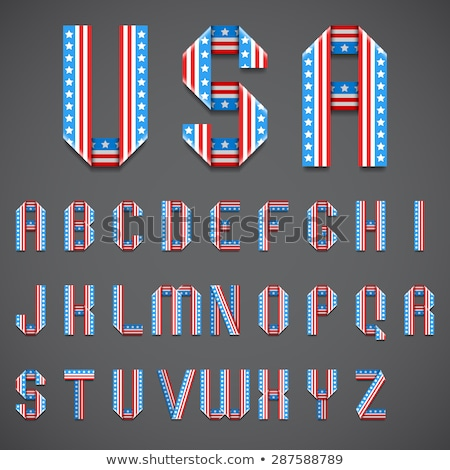 стилизованный · американский · флаг - Сток-фото © timurock