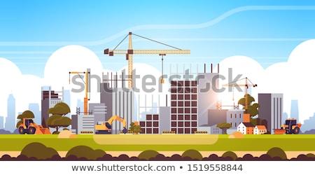 lakás · épület · építkezés · dolgozik · épületek - stock fotó © frameangel