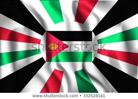 Vlag koninkrijk Jordanië klein 3d man Stockfoto © Istanbul2009