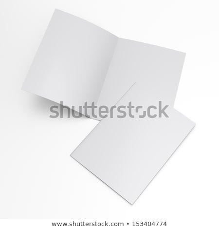 close up of a leaflet blank white paper on white background stock photo © netkov1