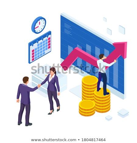 dos · apretón · de · manos · rosa · negocios - foto stock © wavebreak_media