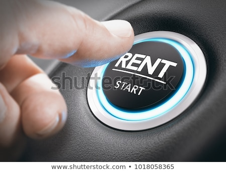 Louer voiture bouton Homme main internet Photo stock © fuzzbones0