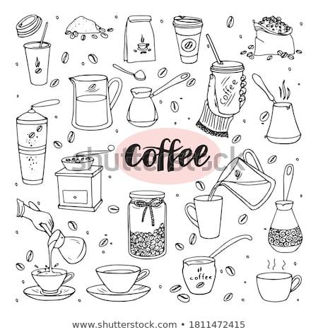 Firka főzet kávé kitűnő eps 10 Stock fotó © netkov1