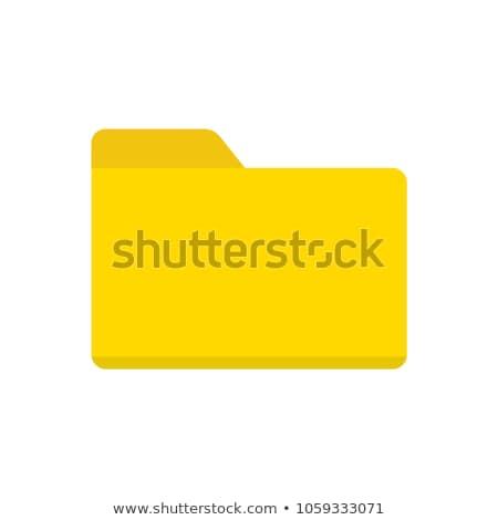 Citromsárga mappa iskola akta csempe projekt Stock fotó © shutswis