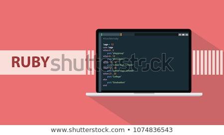 ruby on rails coding stock photo © georgejmclittle