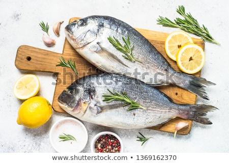 Cooking Dorado Fish Stock photo © zhekos