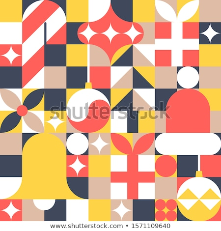 Foto stock: Geometric Christmas Ornaments Vector
