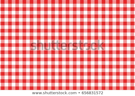 Red checked table linen Stock photo © Digifoodstock