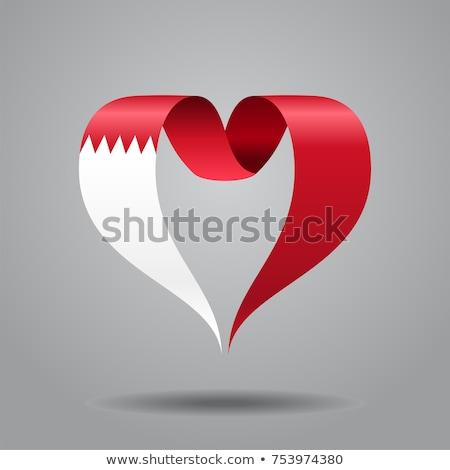 Sevmek Bahreyn imzalamak yalıtılmış beyaz bayrak Stok fotoğraf © MikhailMishchenko