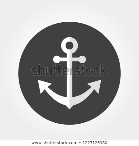 anchor with metal ball, transportation - icon, button, symbol Stock photo © djdarkflower