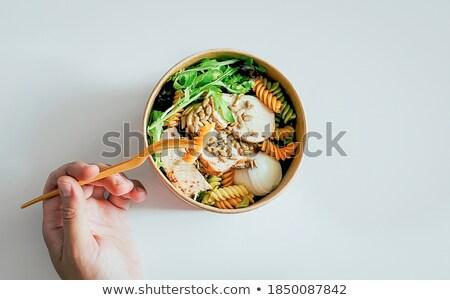 Régime alimentaire riz légumes alimentaire poissons cuisine Photo stock © sebikus