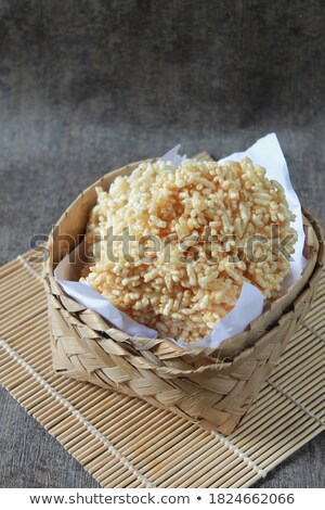 Tasty selection of crunchy cookies in a bowl Stock photo © ozgur