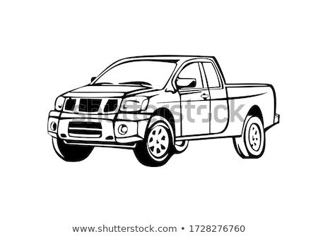 caminhão · vermelho · isolado · branco · carro · movimento - foto stock © rastudio