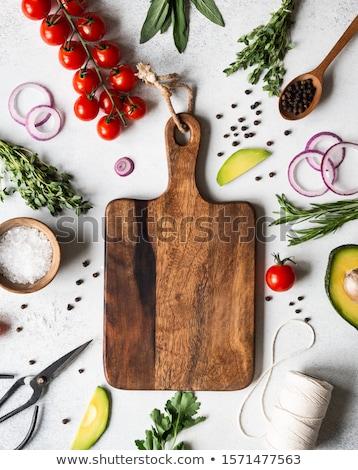 材料 · ヴィンテージ · 新鮮な · キノコ · 暗い · 精進料理 - ストックフォト © karandaev