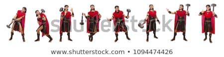 Gladiátor kalapács izolált fehér férfi háttér Stock fotó © Elnur