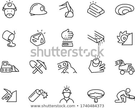 горно уголь корзины линия икона уголки Сток-фото © RAStudio