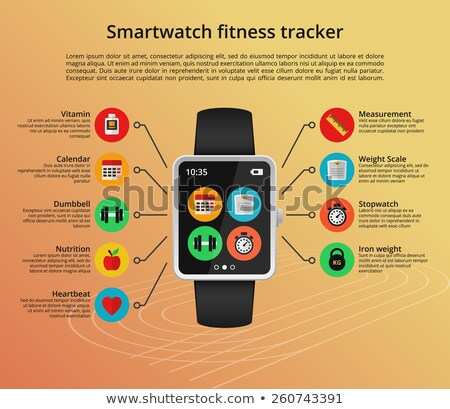 Fitness tracker flat vector infographic illustration stock photo © vectorikart