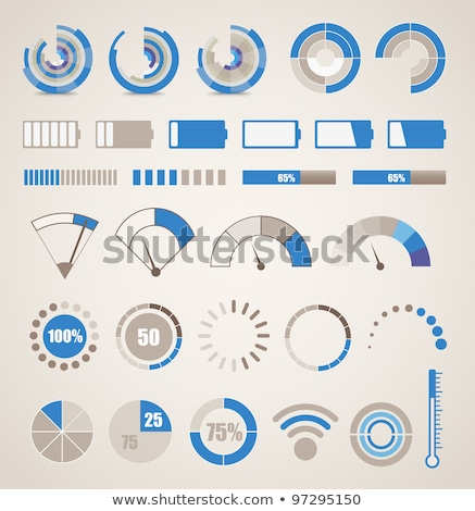Rounded buttons with the different graphs Stock photo © bluering