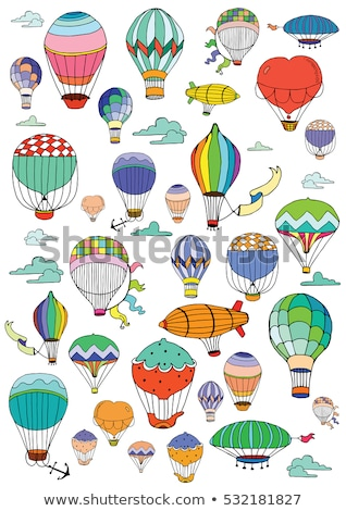 Vector of colorful hot air balloon and anchor Stock photo © adrian_n