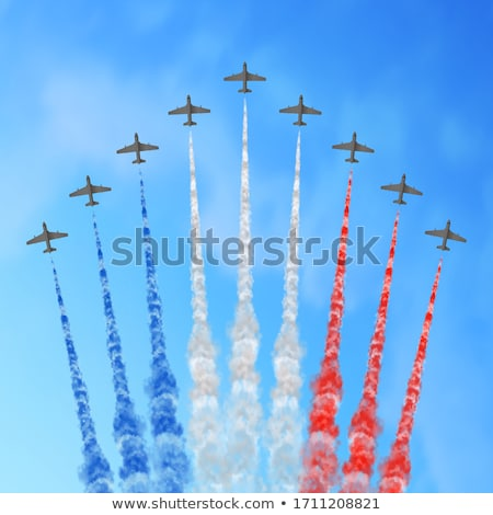 fighter plane on blue background Stock photo © Istanbul2009