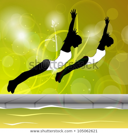 Woman doing synchronized swimming Stock photo © bluering