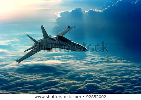 Militaire avions cartoon illustration nuages guerre Photo stock © UltraPop