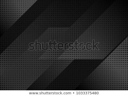 Czarny minimalny tech streszczenie metaliczny naszywka Zdjęcia stock © saicle