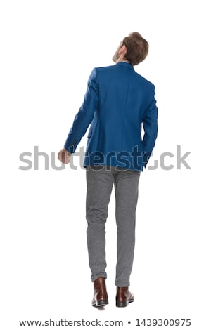 young man with his fist clenched Stock photo © nito