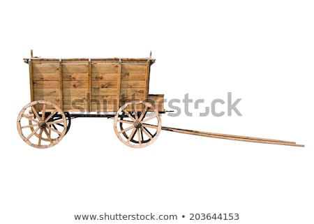 vintage wooden cart stock photo © fotoyou