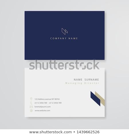 青 抽象的な 名刺 イド テンプレート ビジネス ストックフォト © SArts