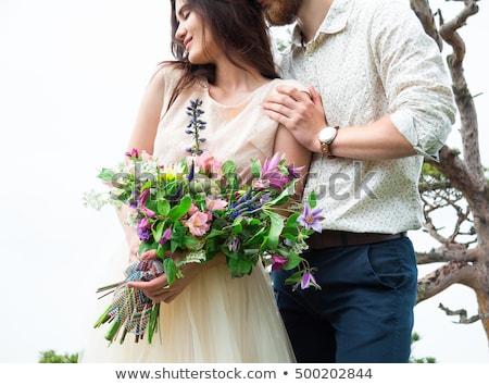пару любви великолепный невеста жених Сток-фото © Yatsenko