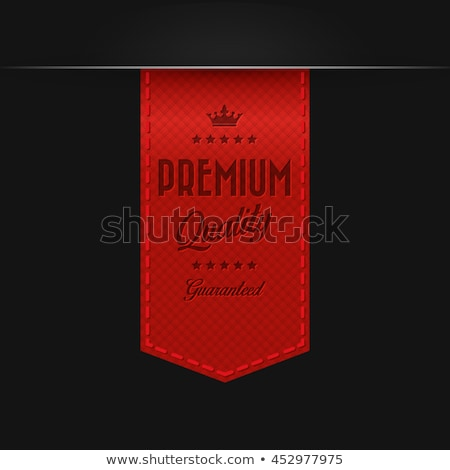 Red Color vector award  badge and ribbon. Premium quality.  Stock photo © fresh_5265954