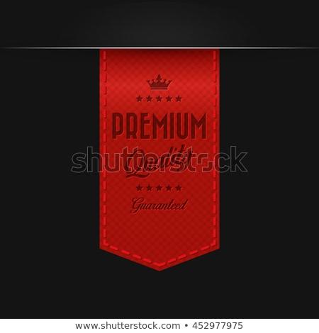 Rosso colore vettore premio badge nastro Foto d'archivio © fresh_5265954