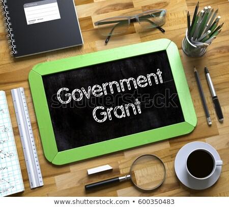 небольшой доске Правительство 3D зеленый Сток-фото © tashatuvango