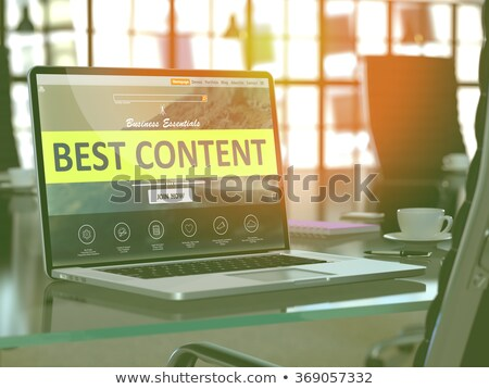 laptop screen with best content concept 3d illustration stock photo © tashatuvango