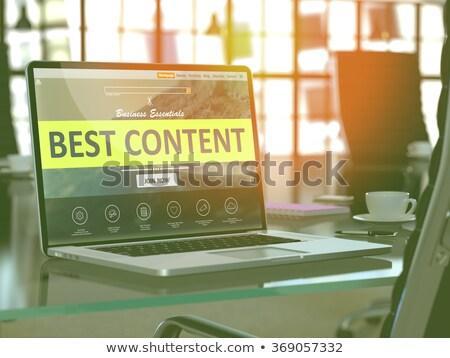 ノートパソコン 画面 ベスト コンテンツ 3次元の図 着陸 ストックフォト © tashatuvango
