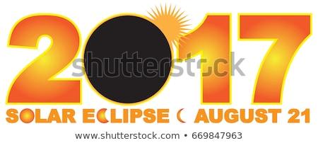太陽 · 日食 · アメリカ合衆国 · カラー画像 · 太陽 · 月 - ストックフォト © Backyard-Photography