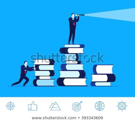 Good Businessman looking through binoculars Stock photo © studiostoks