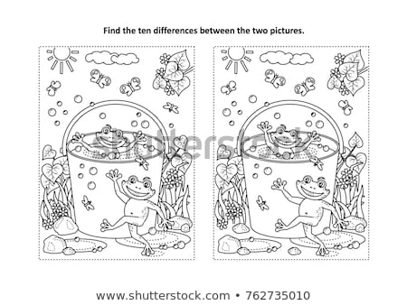 Spot the difference frog Stock photo © Olena