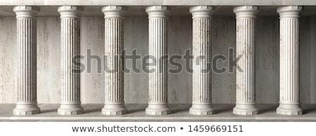 Kő oszlopok domb Edinburgh építészet Skócia Stock fotó © ldambies