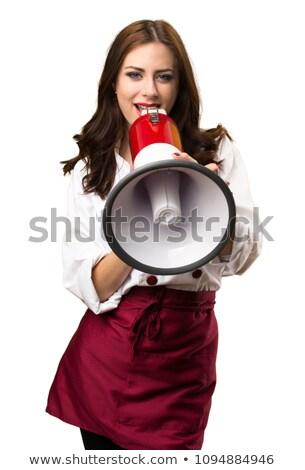 Chef Cook parler haut-parleur Photo stock © RAStudio