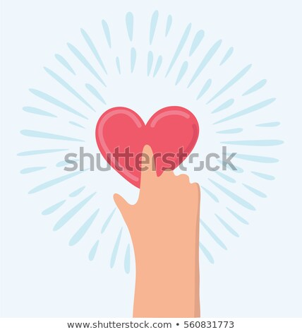 Mano dito stampa come pulsante sottile Foto d'archivio © tashatuvango